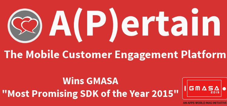 """A(P)ertain is """"GMASA Most Promising SDK of the Year 2015"""""""