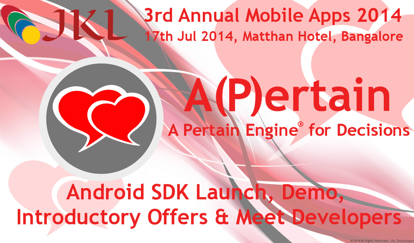 A(P)ertain soft-launch in 3rd Annual Mobile Apps 2014
