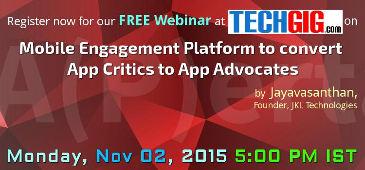Mobile Customer Engagement Platform to convert App Critics to App Advocates