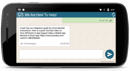 Mobile In-App Support Instant Response